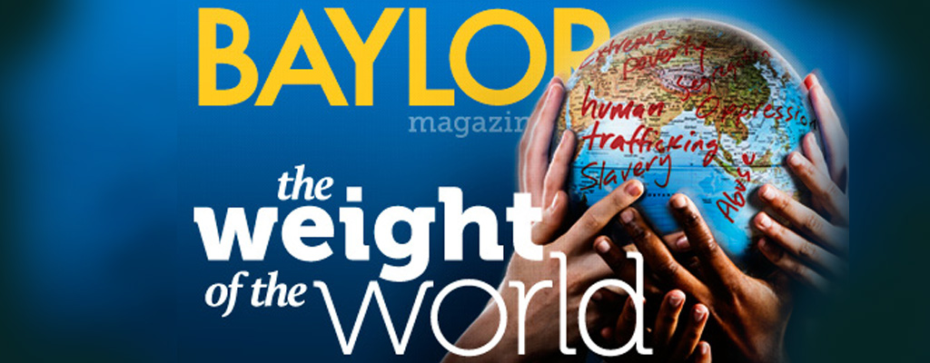 Baylor Magazine Cover: The Weight of the World