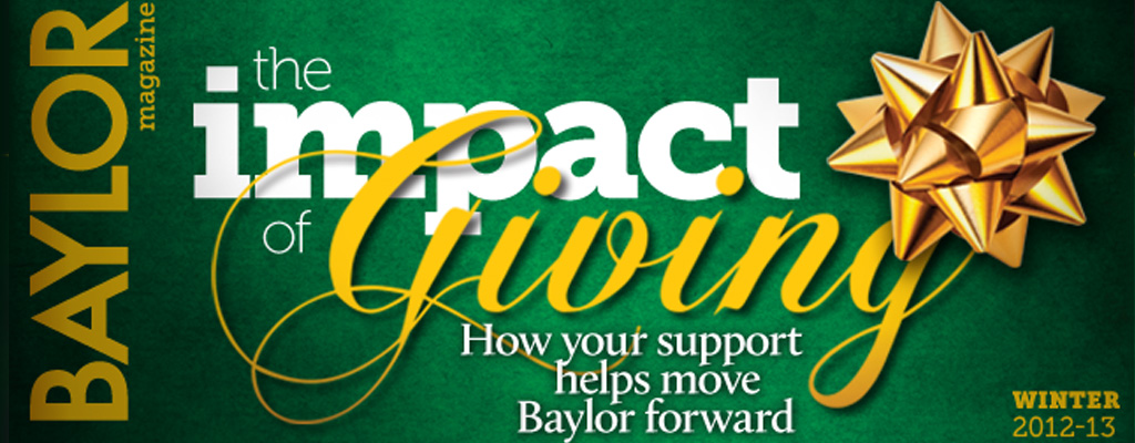 Magazine cover story: the impact of giving