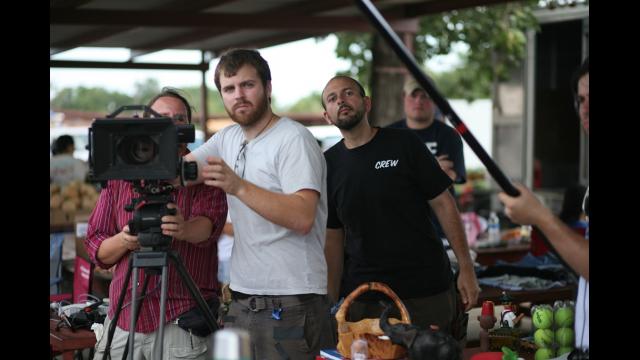 Chris Hansen on set