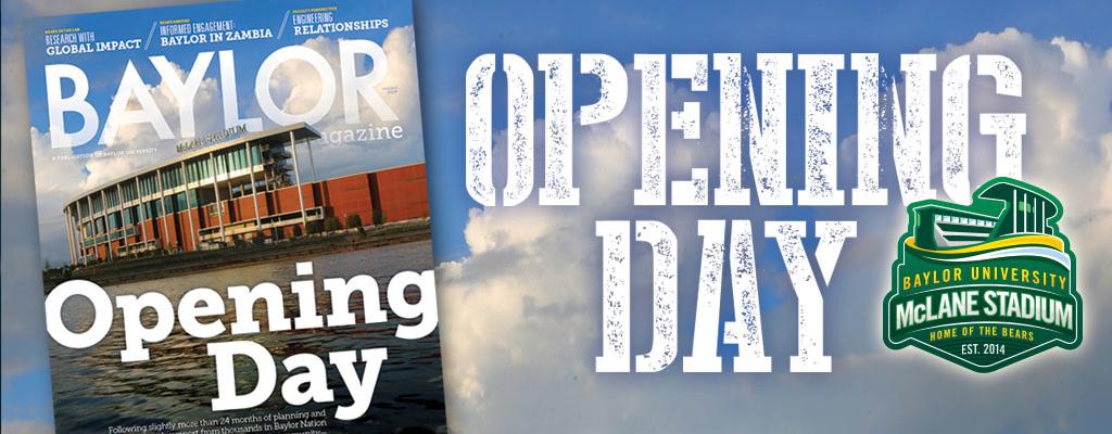 Baylor Magazine Cover: McLane Stadium Opening Day