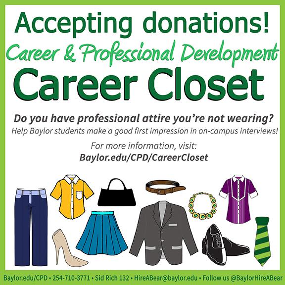 Career Closet flyer