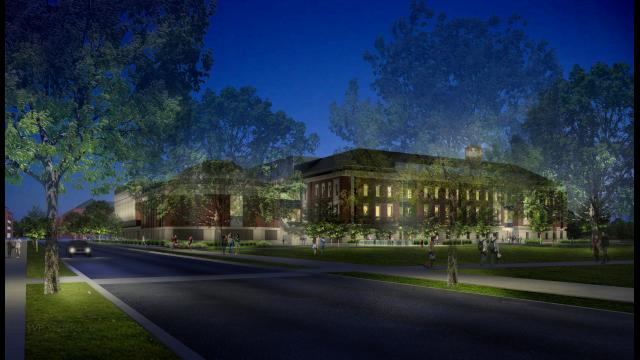 Foster Campus rendering NW corner