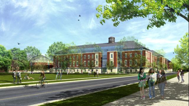 Foster Campus rendering SW corner