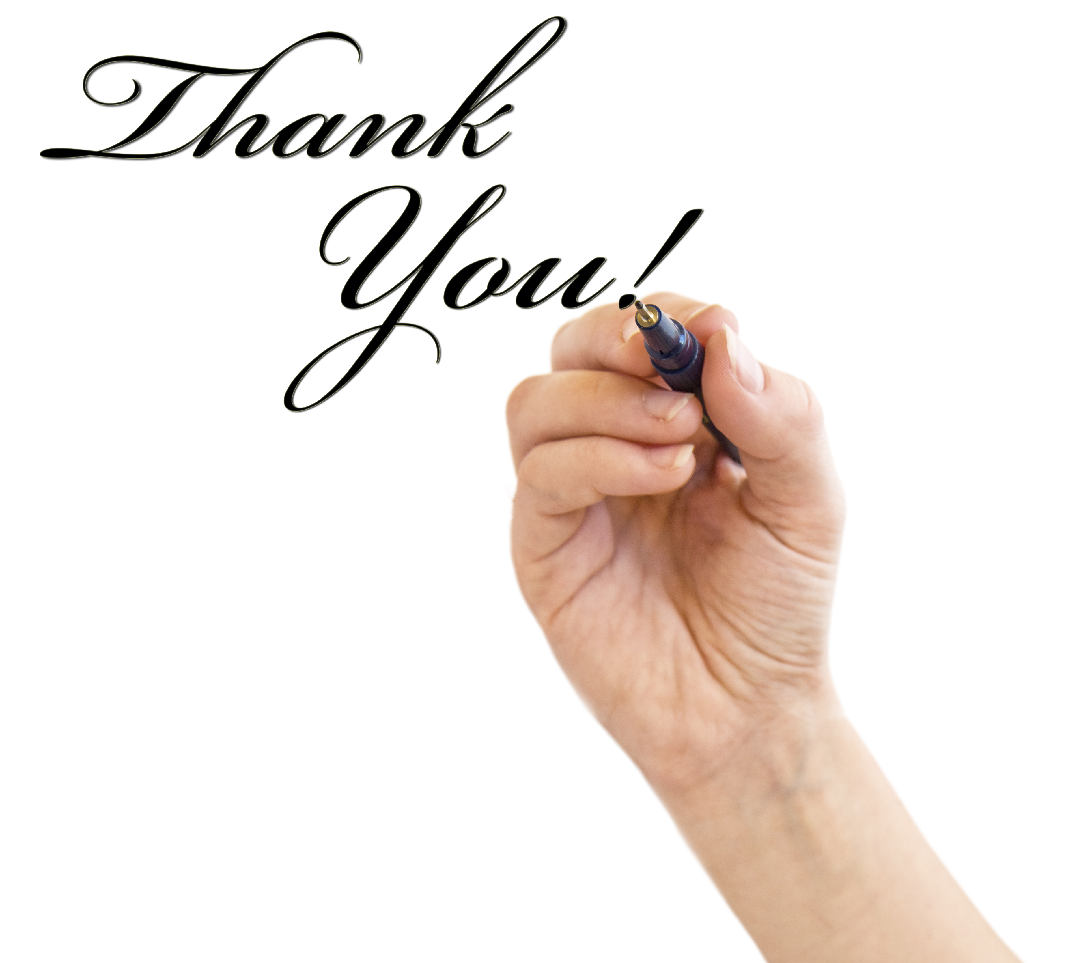 Stock image of thanks