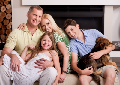 Stock photo of a family