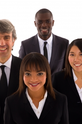 stock photo of a business team