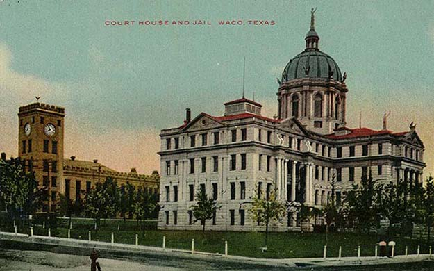 Courthouse Souvenir Postcard with Jail