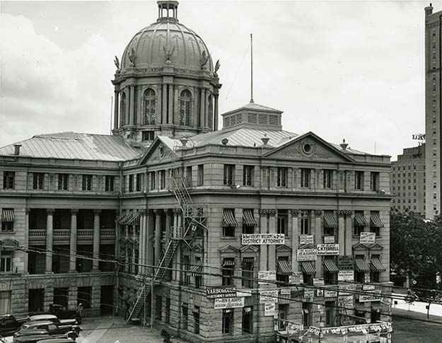 Courthouse at Election Time