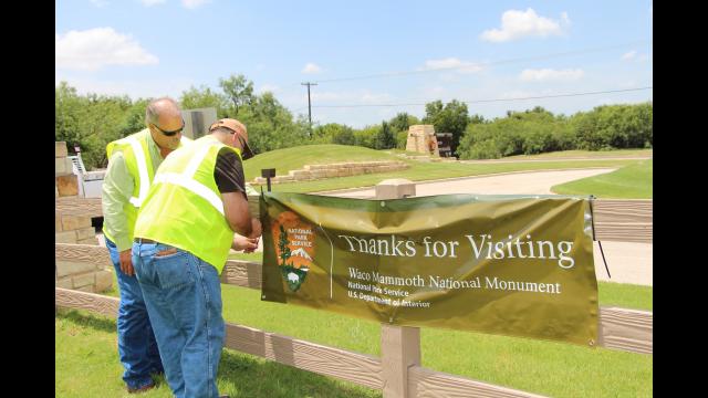 Mammoth sign change visitors