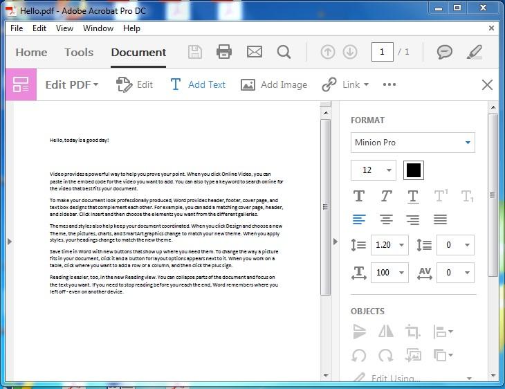 Adobe interface