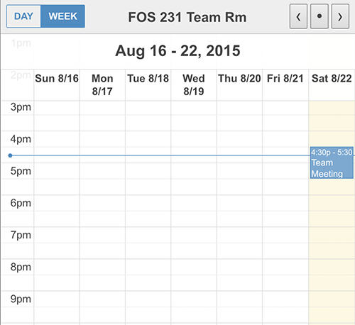 Schedule View of Room Availability