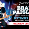 Brad Paisley's Country Nation College Tour Presented By Zaxby's To Visit Baylor University