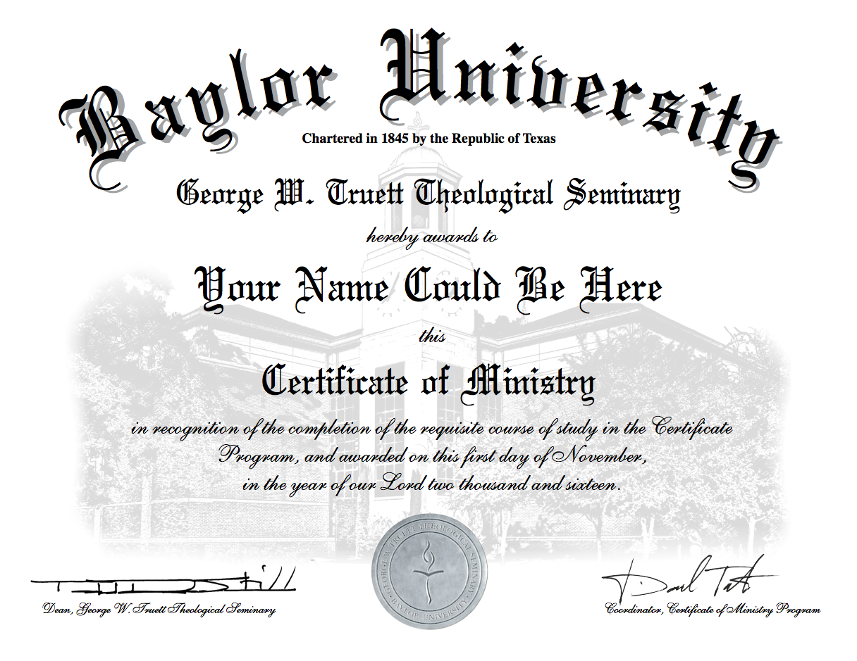 Certificate of ministry program george w truett theological groupfamily discounts or other discounts and scholarships please contact the certificate of ministry program office at truettcertificatebaylor xflitez Gallery