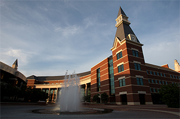 Photo of Baylor Science Building at sunset