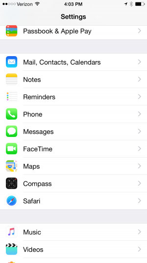 Apple iOS Email Setup | Information Technology Services