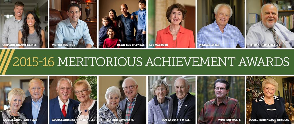 Meritorious Achievement Awards