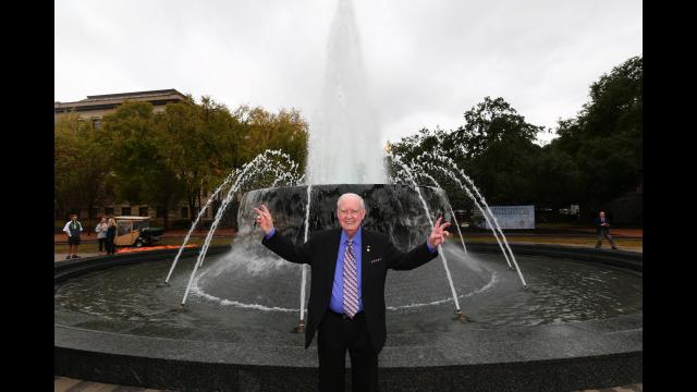 Fountain Dedication Dr. Rosenbalm