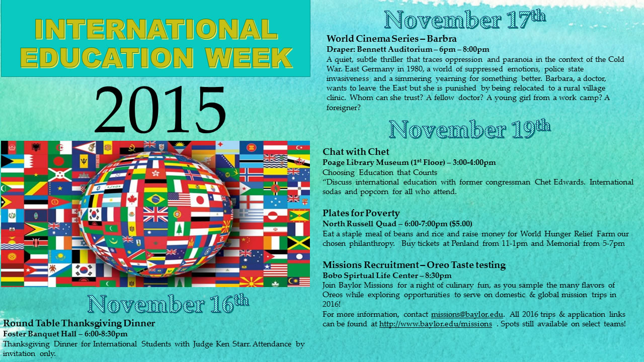 IEW 2015 Events