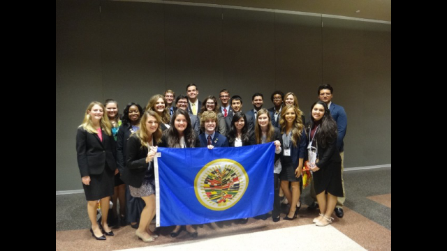 Baylor University's Model Organization of American States team 2015