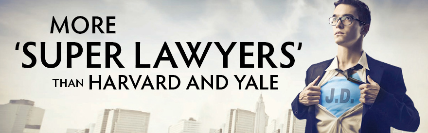 Baylor Law has more Super Lawyers than Harvard and Yale