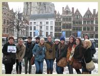 group photo on a trip