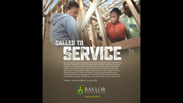 Called to Service print ad
