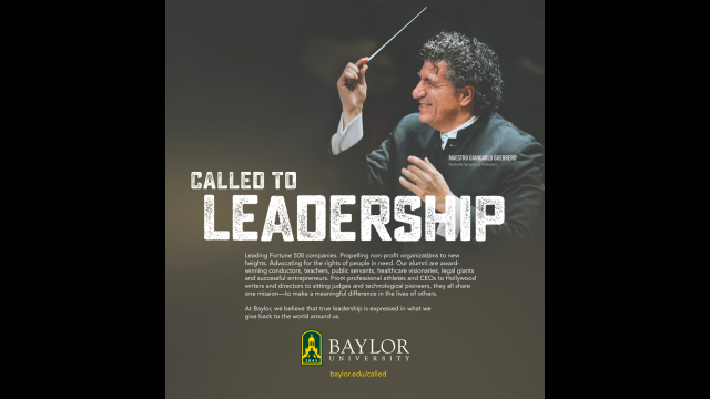 Called to Leadership print ad
