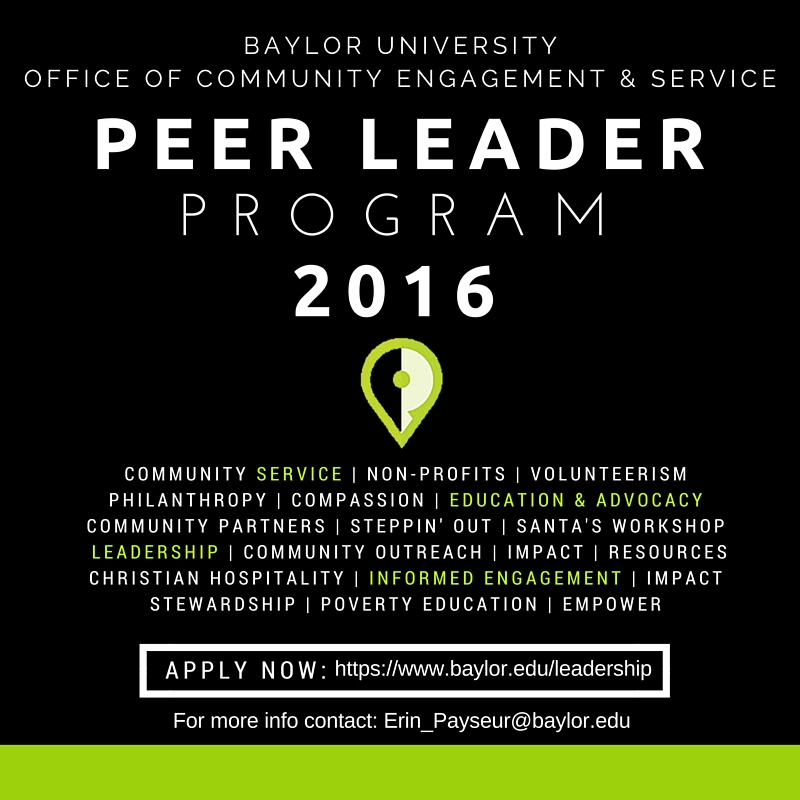 Peer Leader 2016 Graphic