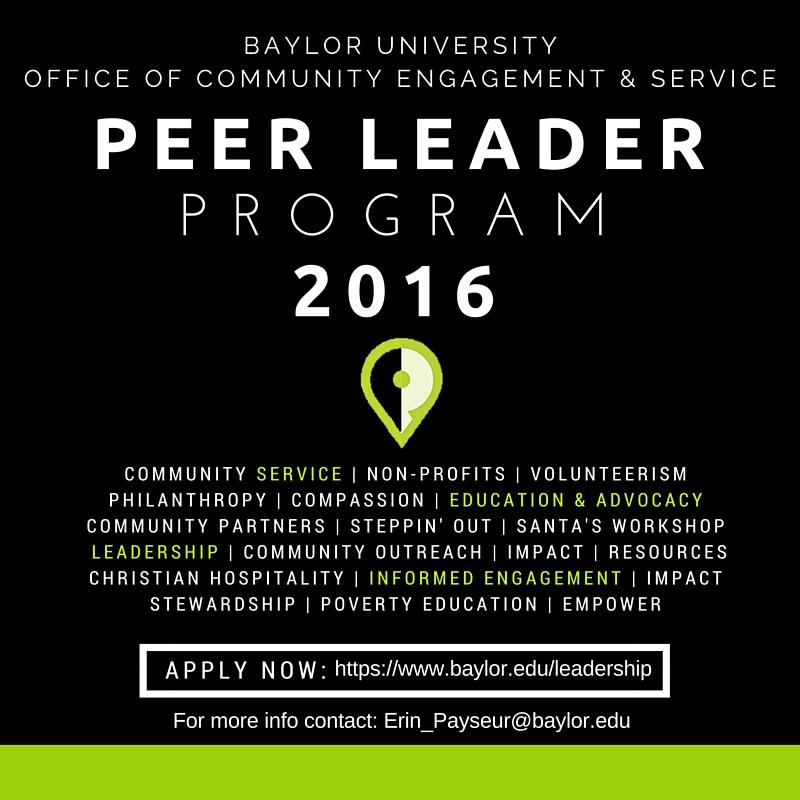 Peer Leader 2016 Graphic