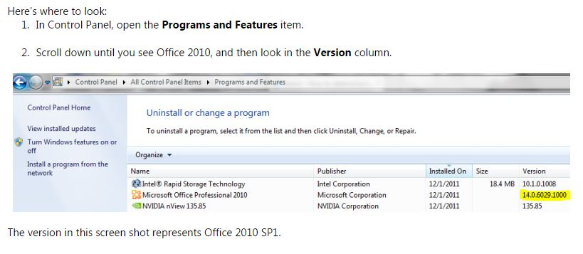 Outlook 365 Office SP