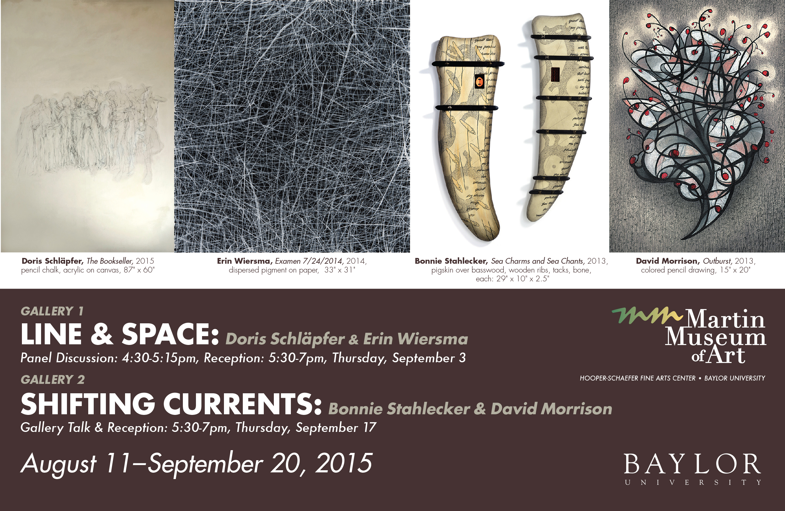Line & Space and Shifting Currents Postcard, Fall 2015