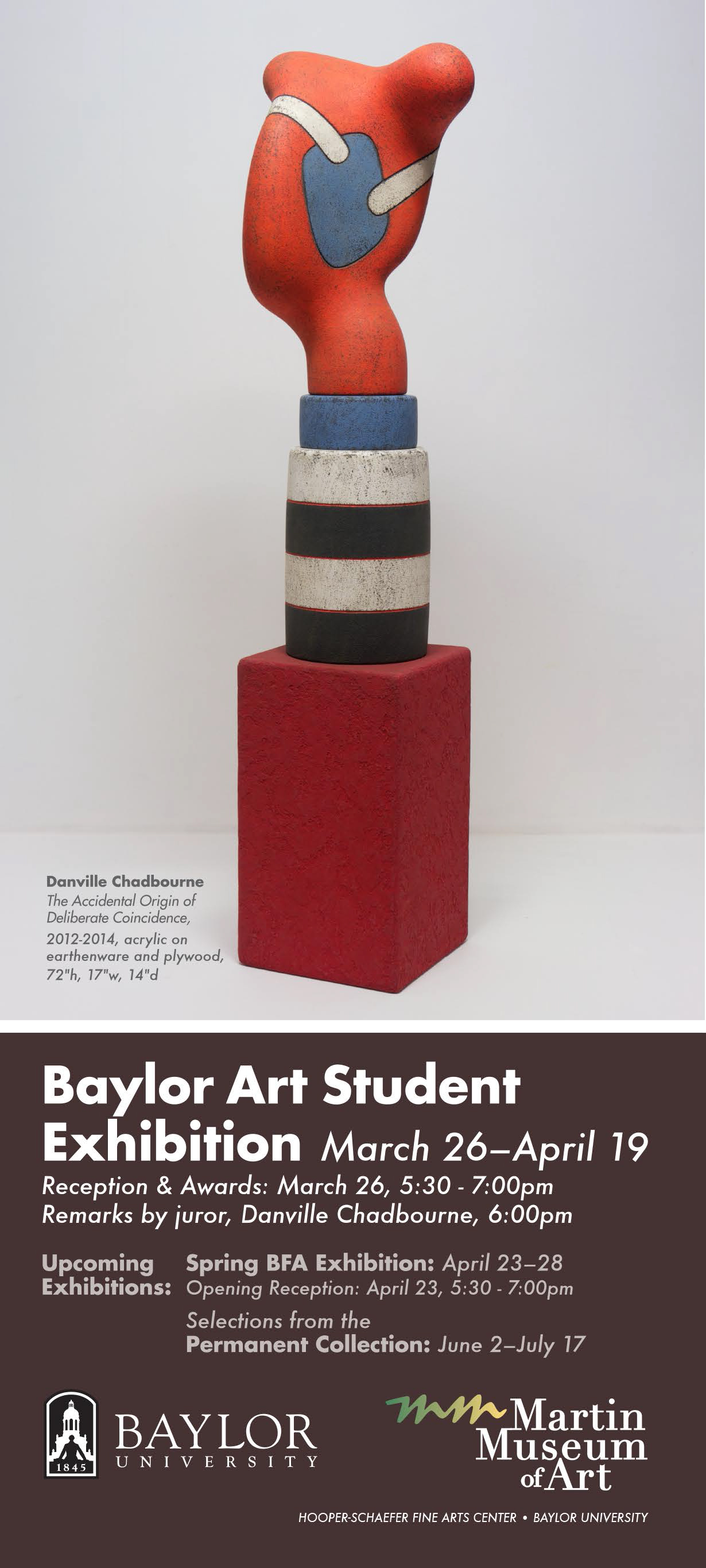 Student Exhibition Card, Spring 2015