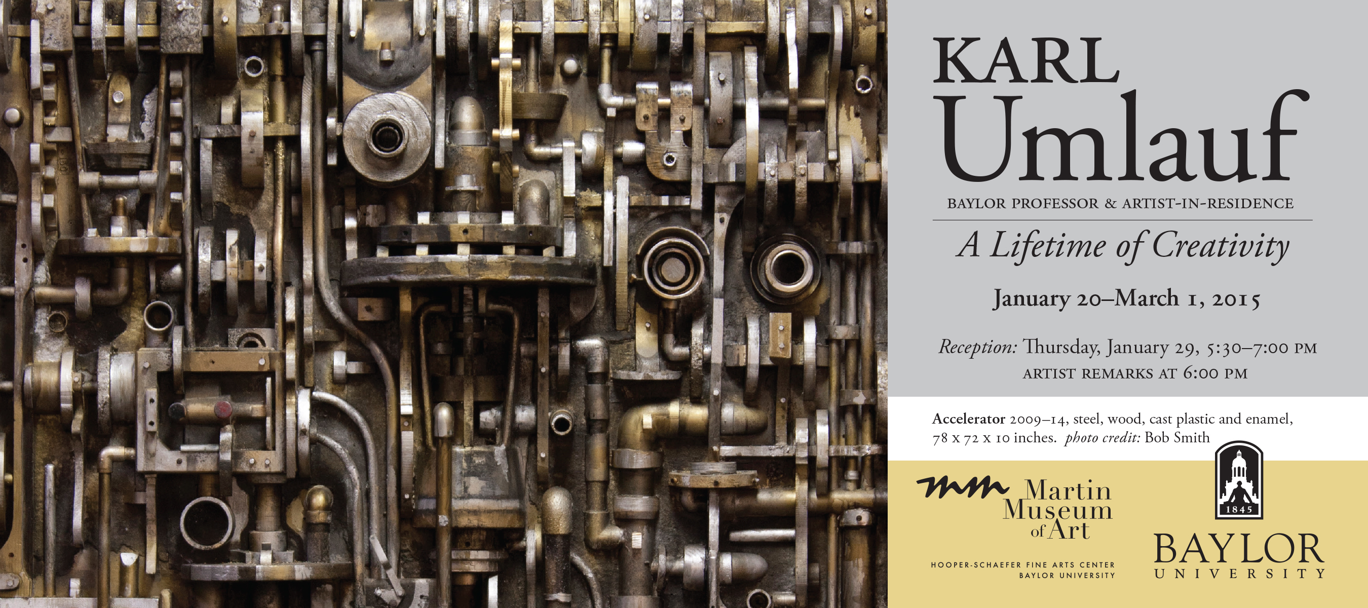 Karl Umlauf Exhibition Card, Spring 2015