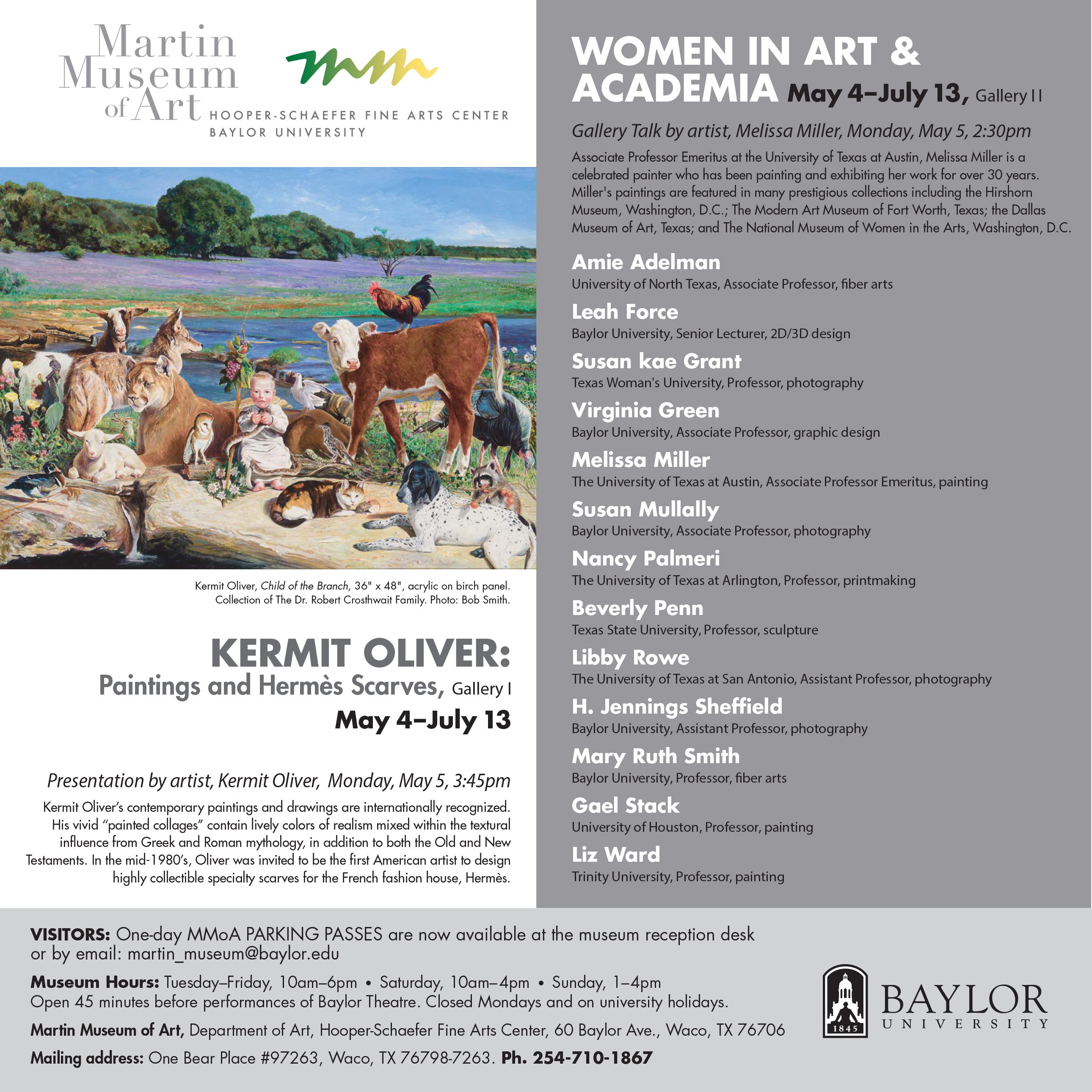 Kermit Oliver and Women in A&A Card, Spring 2014