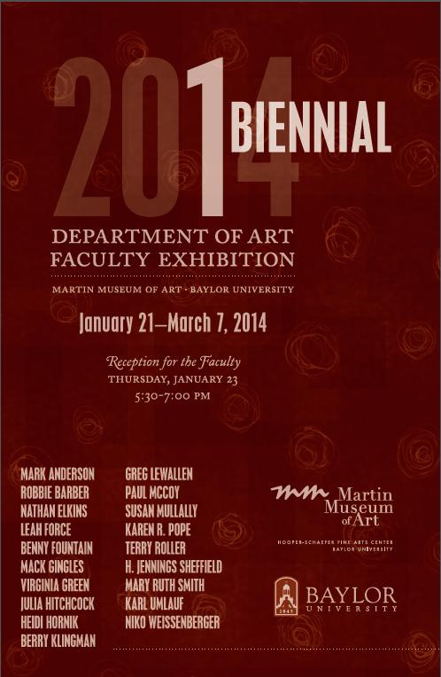 Faculty Exhibition Card, Spring 2014