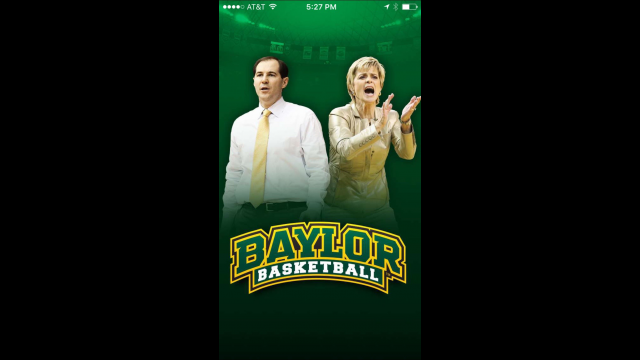 Baylor In-Game App welcome screen