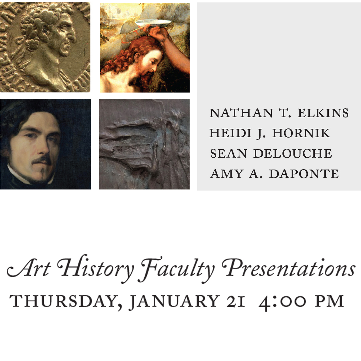 Art History Lectures, Spring 2016