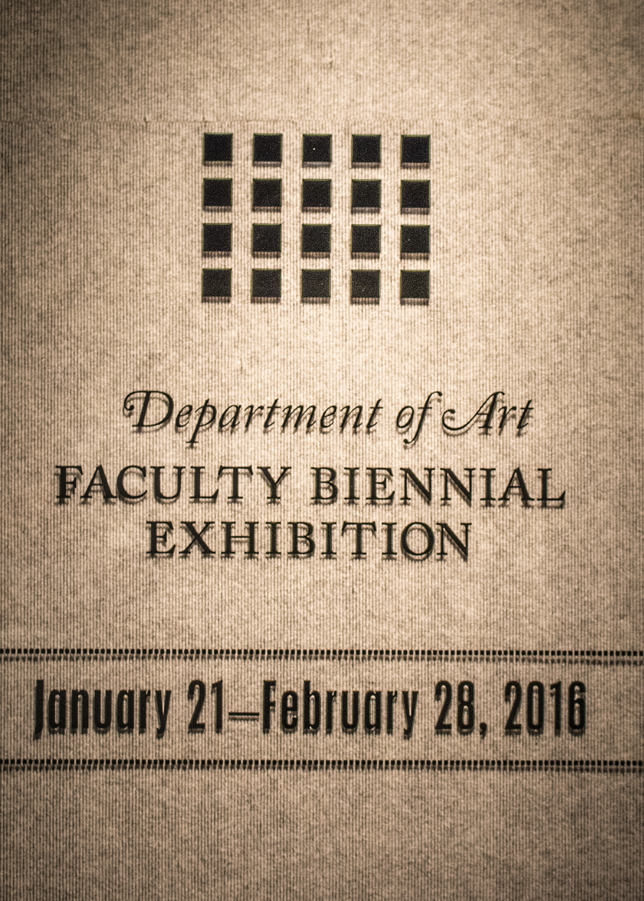2016 Baylor Art Faculty Exhibition