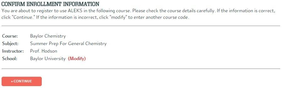 Confirm Enrollment
