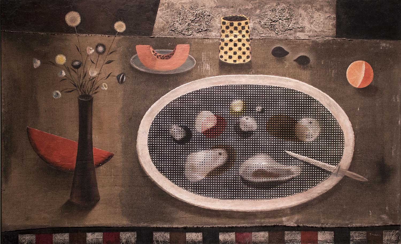 Michael Frary, <i>Still Life with Platter</i>, 1952