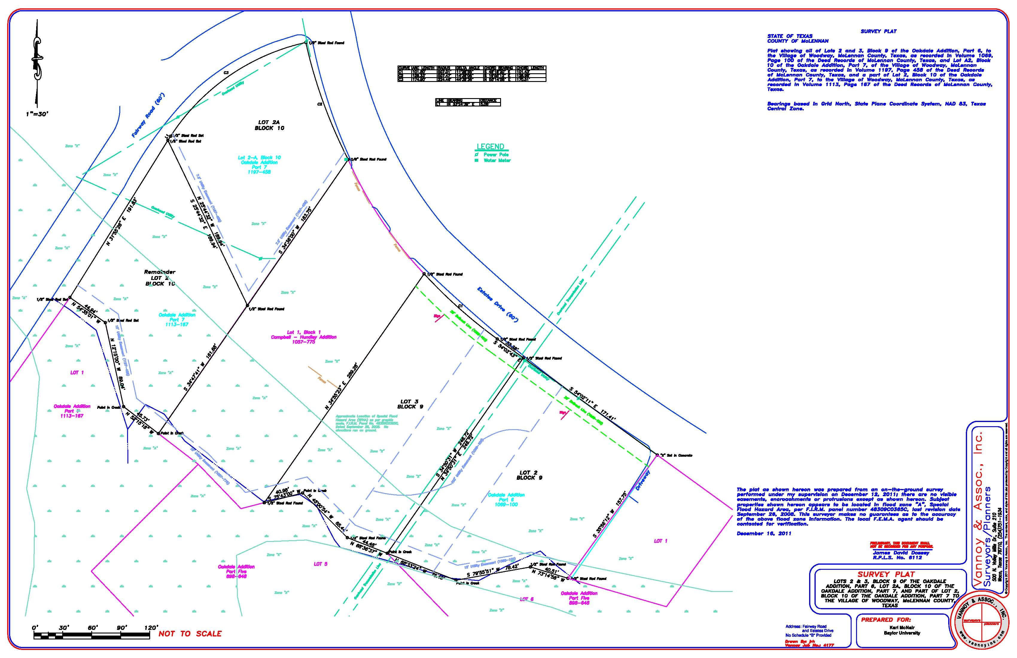 Woodway - Estates Lots Survey