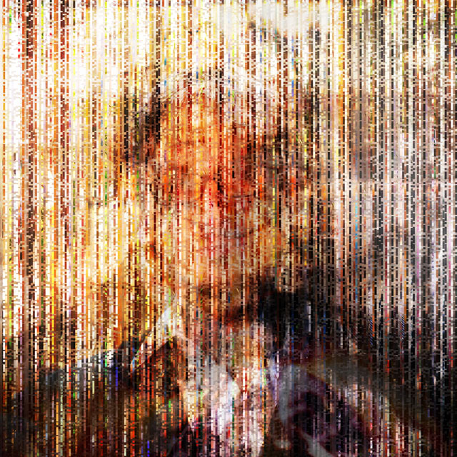 The Collective Glitch_Portrait | archival pigment print on aluminum, 40 x 40, 2015