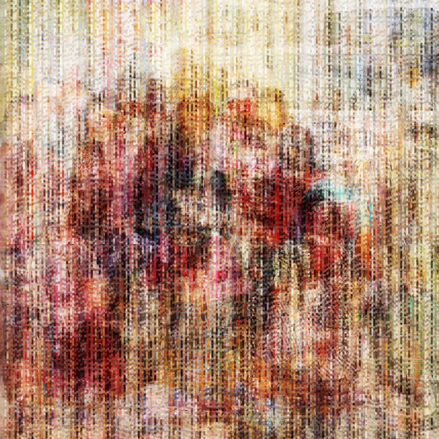 The Collective Glitch_Family | archival pigment print on aluminum, 40 x 40, 2015