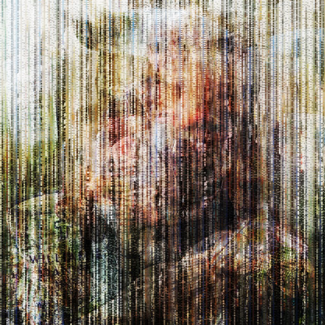 The Collective Glitch_Hero | archival pigment print on aluminum, 40 x 40, 2016