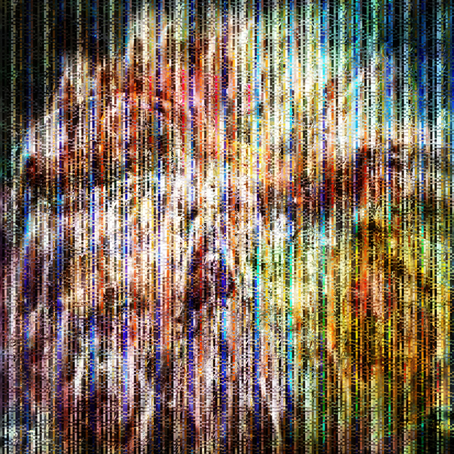 The Collective Glitch_Fear | archival pigment print on aluminum, 40 x 40, 2015