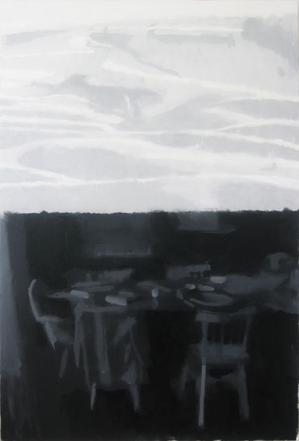 Combine #2 Dinner Table and Idaho Stack | oil on canvas, 56 x 38, 2015