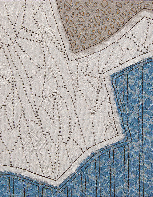 Helen's Remnants: Fracture | fabrics from the 1950's on linen, 14