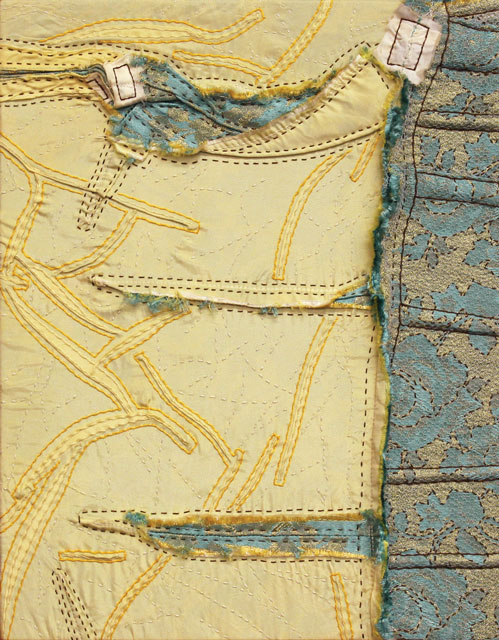 Helen's Bodice: Pressure | fabrics from the 1950's on linen, 14