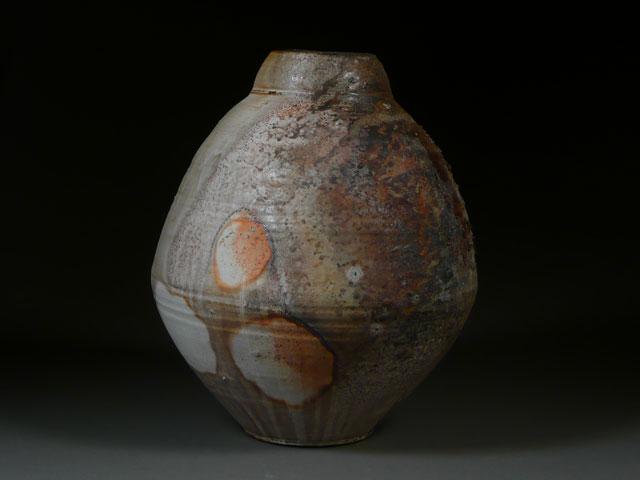 Firebox Jar | wood-fired stoneware, 24 x 18 x 18, 2012
