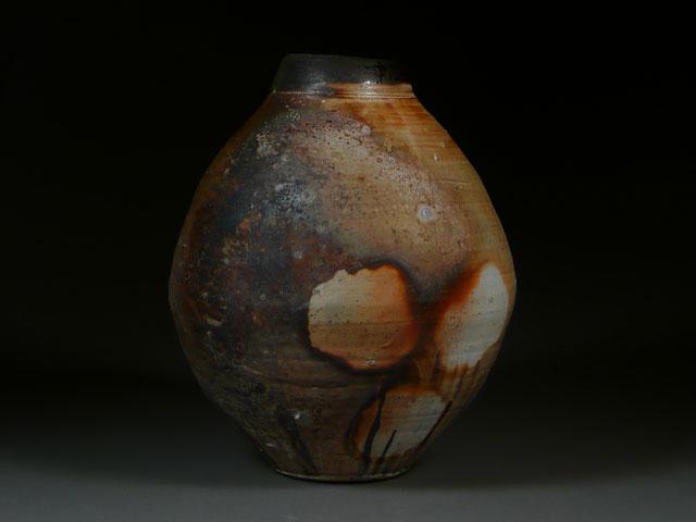 Firebox Jar | wood-fired stoneware, 22 x 18 x 18, 2012